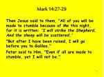 mark 14 27 29