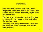 mark 16 1 3