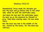 matthew 14 22 31