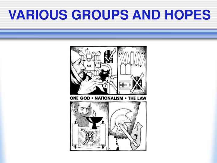 VARIOUS GROUPS AND HOPES