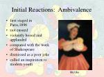 initial reactions ambivalence