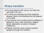 illness transition