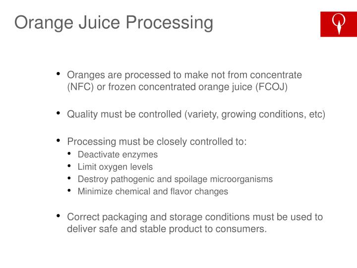 Orange Juice Processing