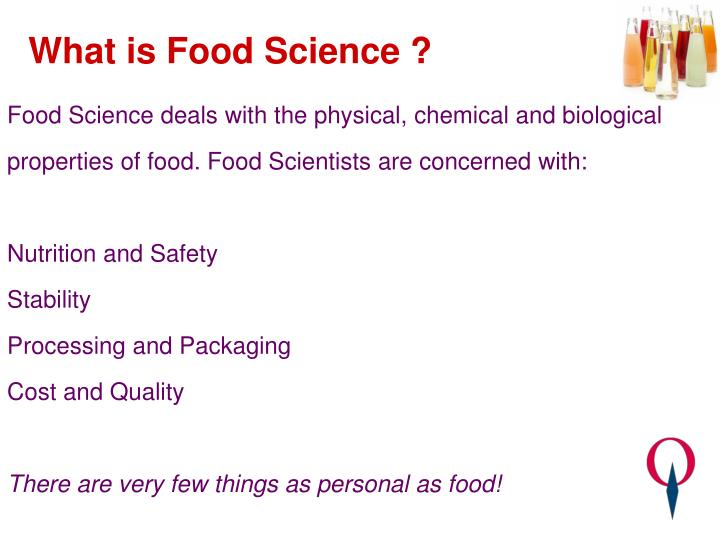 What is food science