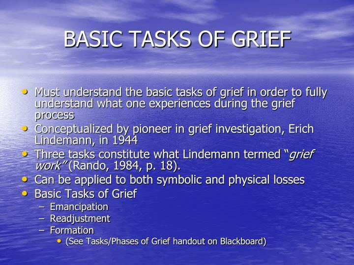 BASIC TASKS OF GRIEF