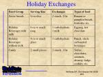 holiday exchanges
