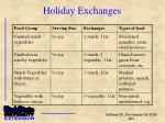 holiday exchanges2