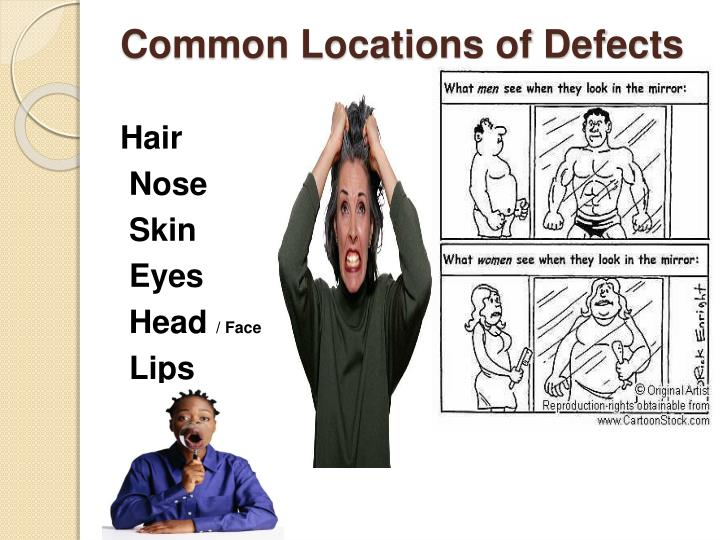 Common Locations of Defects