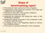 steps of benchmarking report