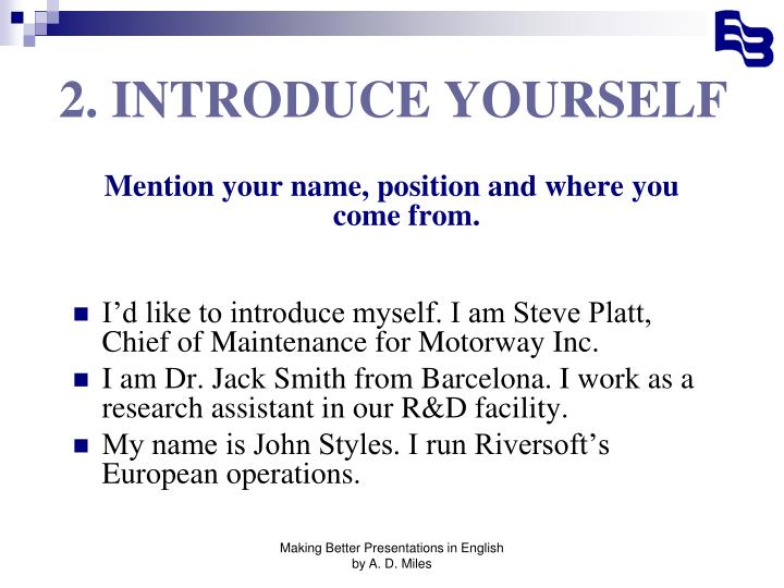 2 introduce yourself