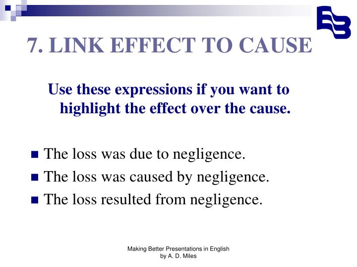 7. LINK EFFECT TO CAUSE