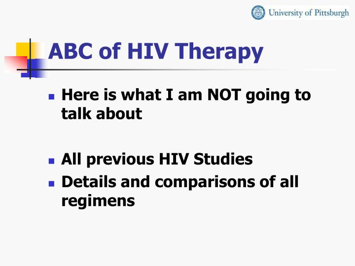 ABC of HIV Therapy