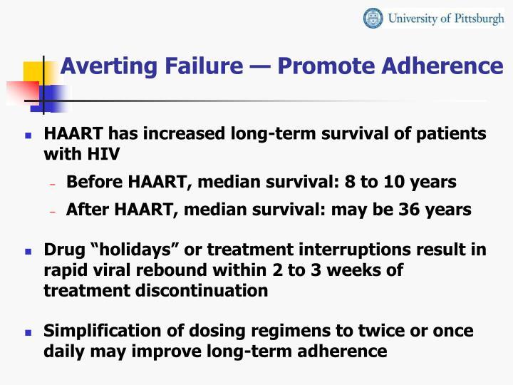 Averting Failure — Promote Adherence
