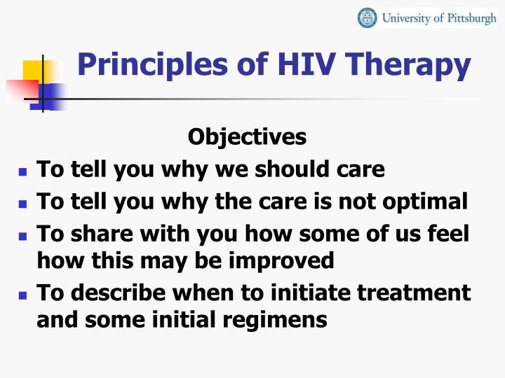 Principles of hiv therapy