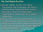the civil rights era klan