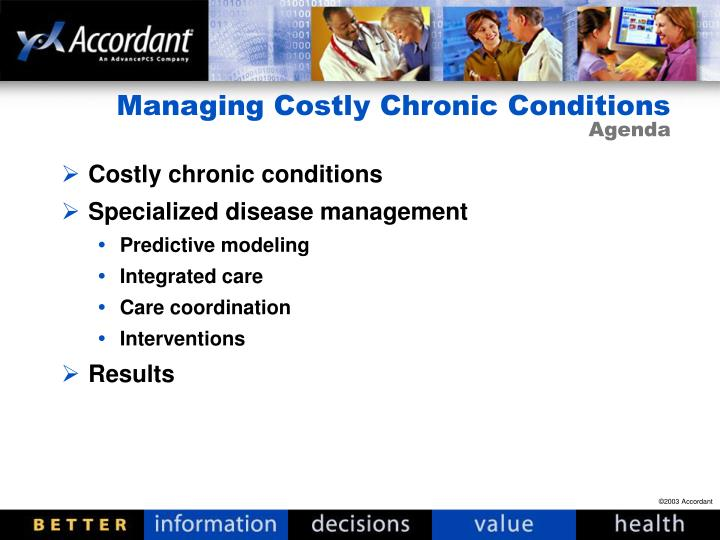 Managing costly chronic conditions agenda