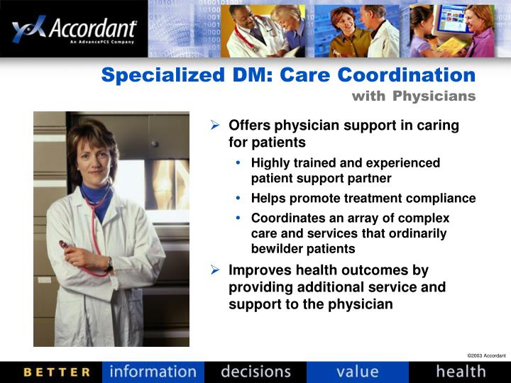 Offers physician support in caring for patients