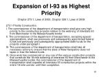 expansion of i 93 as highest priority