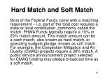 hard match and soft match