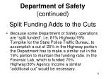split funding adds to the cuts