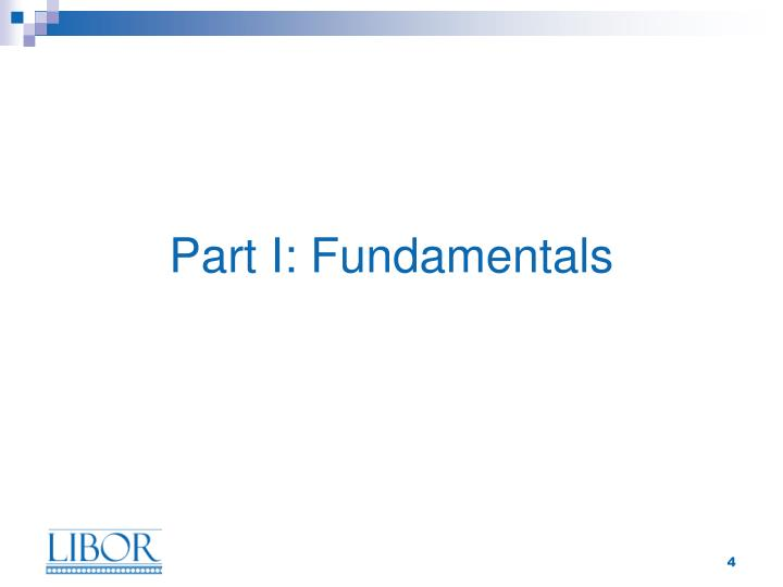 Part I: Fundamentals