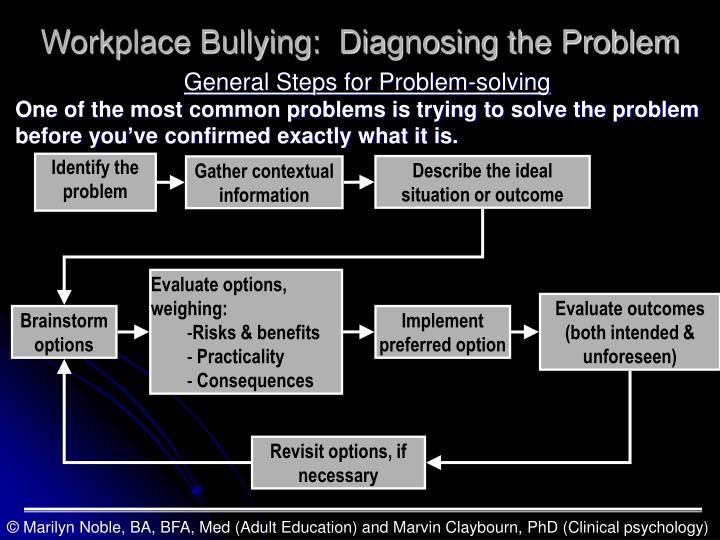 Workplace Bullying:  Diagnosing the Problem