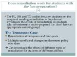 does remediation work for students with far less preparation