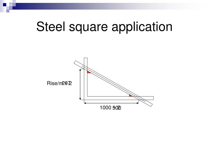 Steel square application