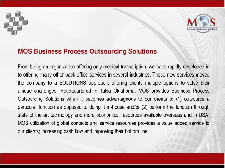MOS Business Process Outsourcing Solutions