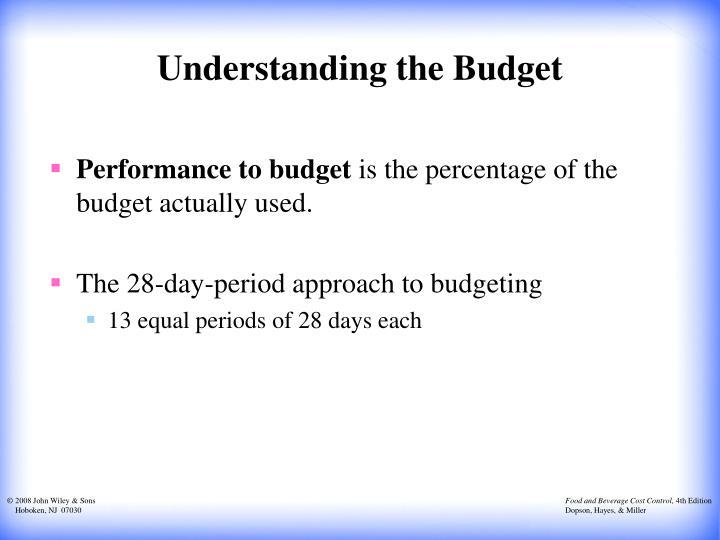 Understanding the Budget