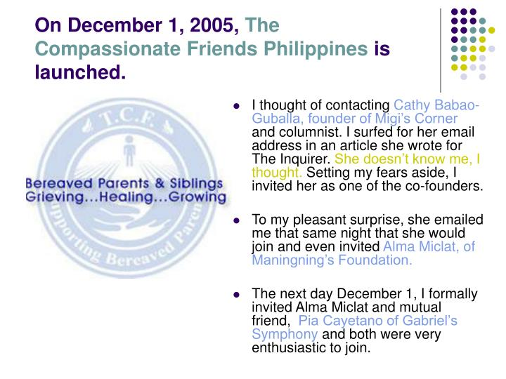 On December 1, 2005,