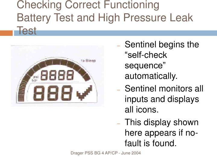 Checking Correct Functioning