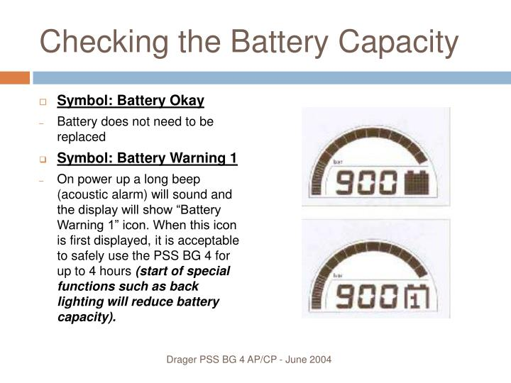Checking the Battery Capacity