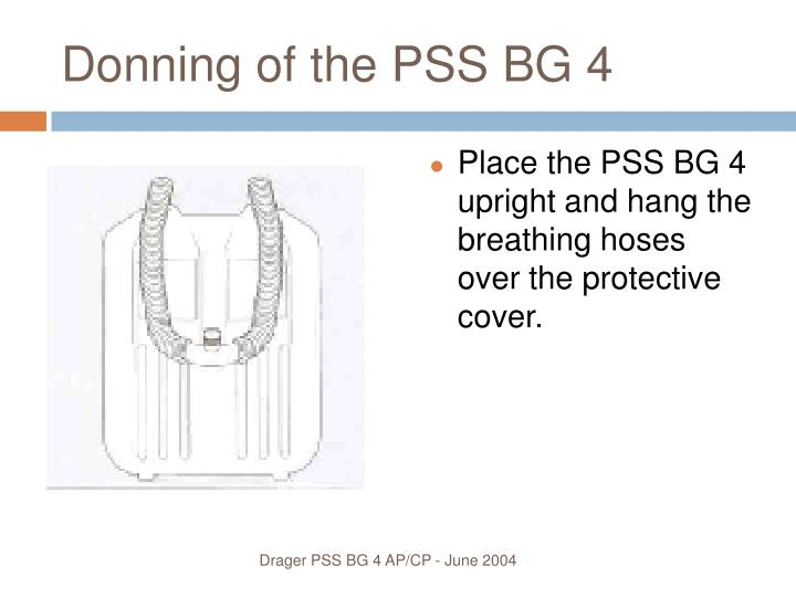 Donning of the PSS BG 4