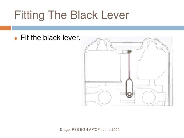 Fitting The Black Lever