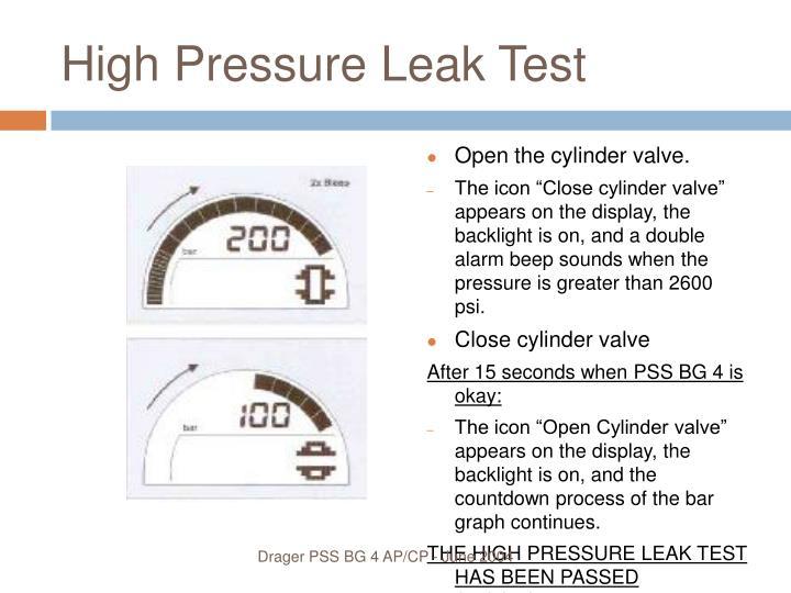 High Pressure Leak Test