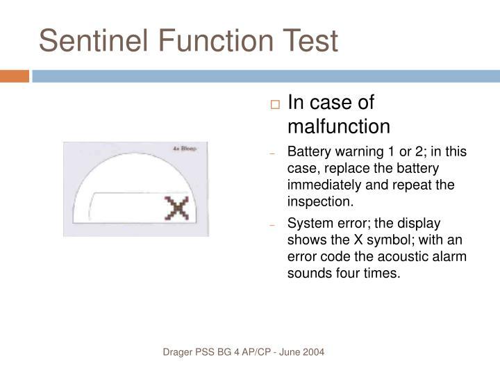 Sentinel Function Test