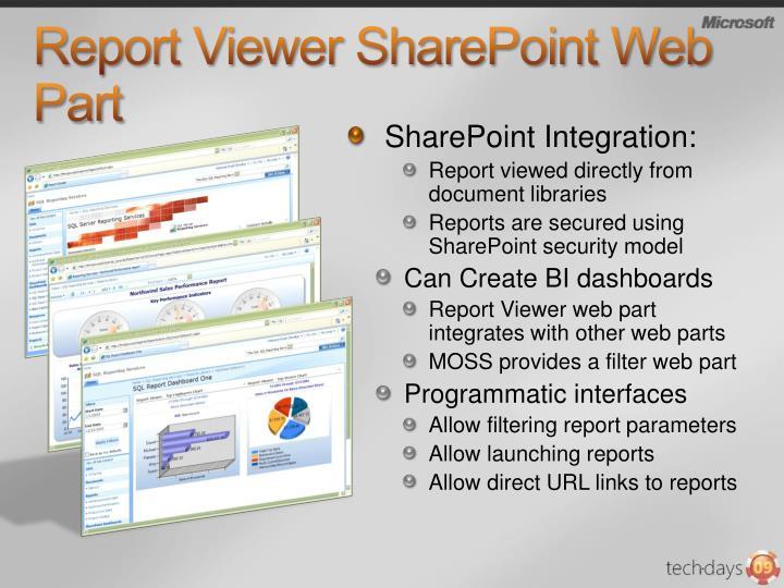 Report Viewer SharePoint Web Part