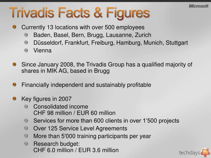 Trivadis facts figures