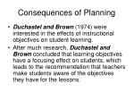 consequences of planning