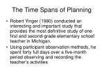 the time spans of planning