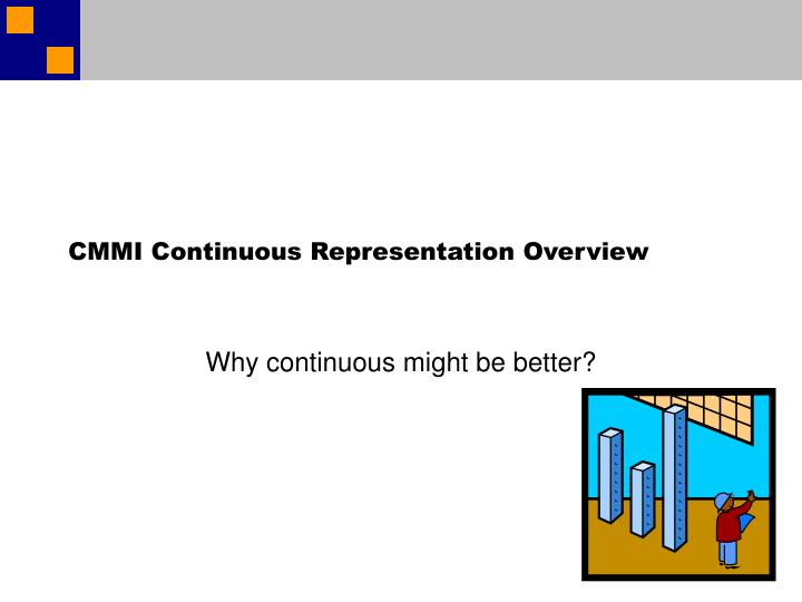 CMMI Continuous Representation Overview