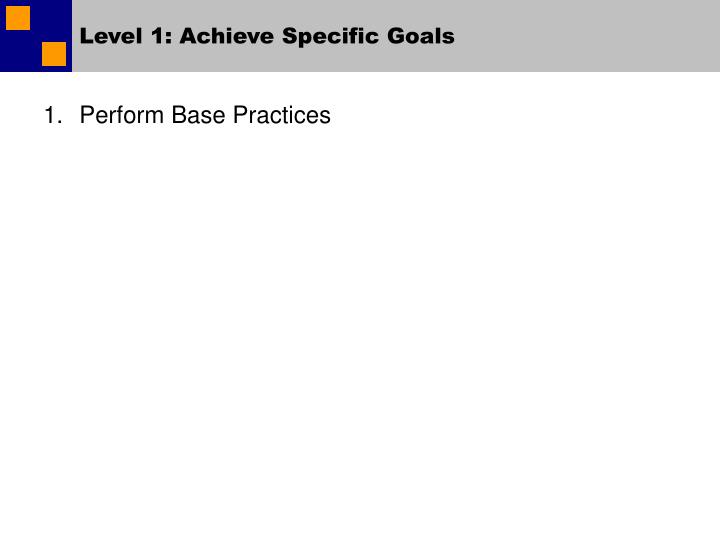Level 1: Achieve Specific Goals