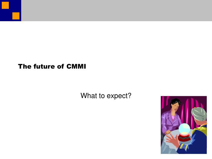 The future of CMMI