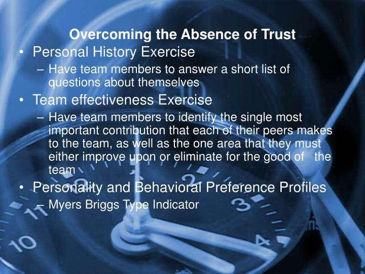 Overcoming the Absence of Trust