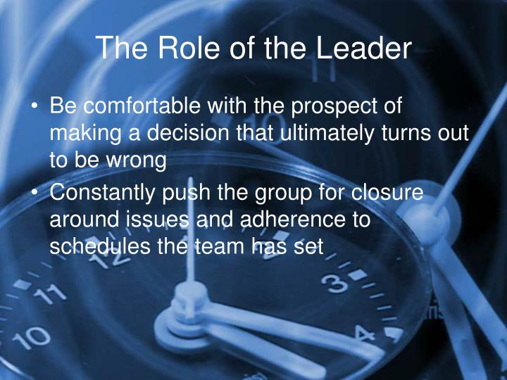 The Role of the Leader