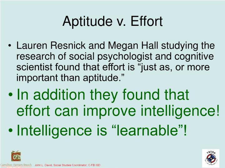 Aptitude v. Effort