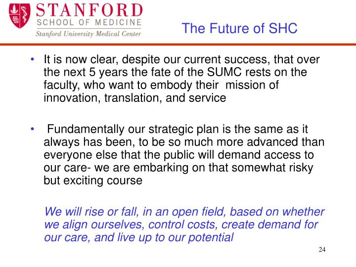 The Future of SHC