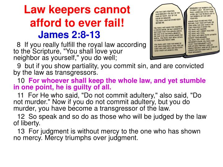 Law keepers cannot afford to ever fail!