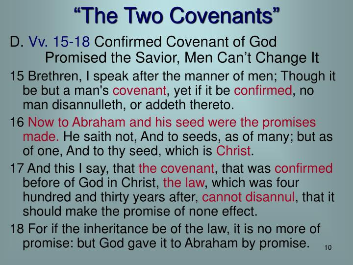 """The Two Covenants"""